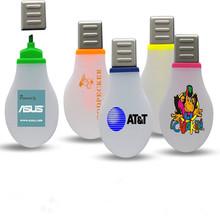 fancy design lamp bulb shape highlighter pen