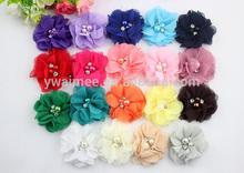Yiwu Aimee supplies wholesale chiffon flower girl dress patterns,chiffon flower making (AM-BJ01)