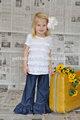 100% do bebê do algodão calças ruffle fotos de calças jeans