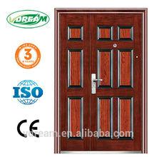 steel securiy door inside filling with honeycomb paper