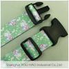 Custom printed polyester nylon webbing luggage stap belt with plastic buckle