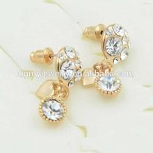 Fashion 18k gold earring for gift golden earring designs for women