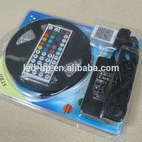 5M RGB 3528 LED Strip Light 300leds+44key Remote Controller + Power Supply