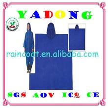 pvc pe peva rain poncho/advertising pvc rain poncho raincoat