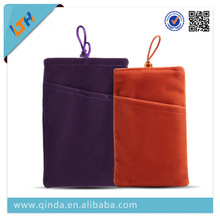 QinD fashionable custom cell phone velvet bag for all smartphone customize velvet bag with different size