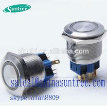 LED Ring Illumination Pushbutton Switch white led