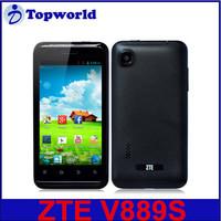 Original ZTE V889S smartphone 4.0 inch Android 4.1 MTK6577 Dual Core Shenzhen China