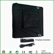 120W outdoor portable folding flexible solar panel for laptop,notebook,car battery
