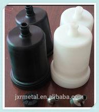 white and black cnc machined precision machining plastic pipe