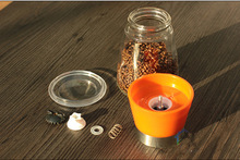 150ML hand-operated salt&pepper mills, colorful manual spice mill
