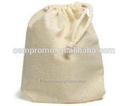 Natural Cotton Canvas Drawstring Bag, Customized drawstring bags, Promotional drawstring bags