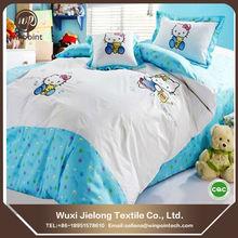 Light blue baby's bedsheet