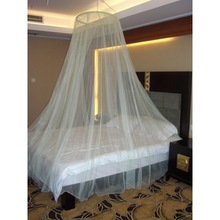 Double bed environment-friendly treated round mosquito net bed in llin