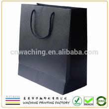 Luxury Black Paper Shopping Bag Wholesale