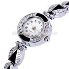 Black Dial Women Diamond Quartz Stainless Steel Watches