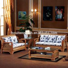 New design nature indonesian cane rattan sectional sofa set, cheap popular living room furniture(906)