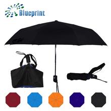 New Arrival Pretty Black Portable 3 Folding Ladies Bag Umbrella