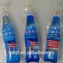 BOPP PE laminating material bottle shape pouch
