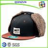 Custom Wool Hat With Ear Flaps/Ear Flaps Flat Brim Cap