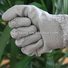 Red long sleeved cow spilt leather welding gloves