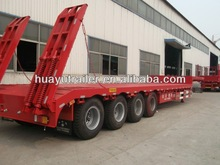 China supplier construction machinery transportation lowbed semi trailer for sale (Lowboy trailer)