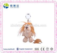 Lion animal plush toy keychain