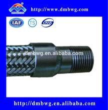 Welding stainless steel braided flexible fire hose