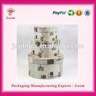 Elegant high quality round cylinder gift box paper gift case