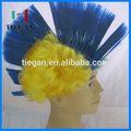 أشقر مجعد الشعر الأفرو الباروكة الزرقاء للزينة عيد الميلاد