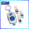 Keyring with removable rings custom LED Light keychain metal Promotional keyrings with car logo