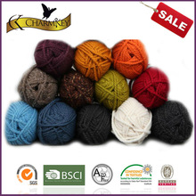 Popular color super soft knitting wool yarn for scarf