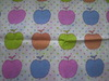 Apple design printed cotton Flannel fabric with soft handle in bulk 150gsm from China good factory