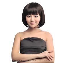 Short 12 inches natural black color natural wave bobo wigs