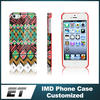 Hot Half Flat Pattern custom made TPU IMD case For IPhone 5 5s