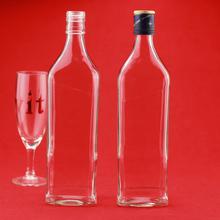 alta calidad botella de vidrio de botella de vidrio con corcho impecable vacía botella de vidrio