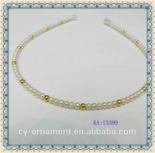 Faux pearl hair accessories handmade headband