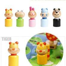 Wooden Forest Animal Blocks plastic wild animal toy