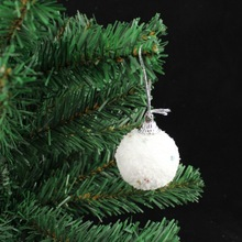 christmas tree ornament white snow ball hanging Gift FC90052