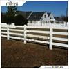 Factoy Supply High Quality 4-Rail White PVC Ranch Rail Cheap Plastic Fence