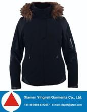 high quality mens outdoor windproof black fur winter jacket 2014