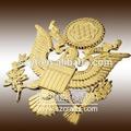 2014 projeto o mais novo metal chapeamento de ouro marca de carro/oem metal logotipo do carro