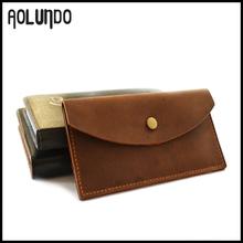 Simple design hot sales crazy horse leather purse