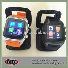 Super quality dual core 3G android dual sim watch phone waterproof good as truesmart