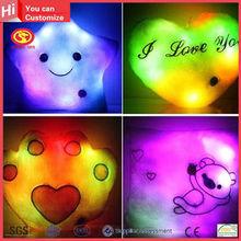 Hot sale colorful flashing light light music decorative pillows