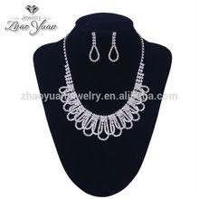 2014 Top sale fashion jewellery necklace set gold jewellery