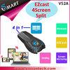 Vissontech 2014 newest V52A ezcast 4 screen slipt 5.8ghz wireless av transmitter receiver