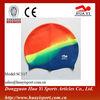 Hot sell adult swim caps designer colorful silicone swim caps
