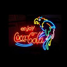 ENJOY COCA COLA PARROT BEER NEON SIGN light