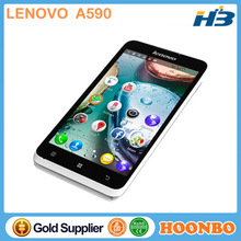 Latest Projector Mobile Phone Lenovo A590 celular Quad Band Mobile Phone Android 4.1 Dual Core 1.0GHz Dual Sim 5.0 inch WVGA GSM