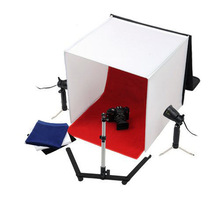"24"" fotografia fotografia studio cubo tenda light box + standilluminazione kit"